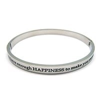 BANGLES - Hinged and engraved with INSPIRATIONAL QUOTATIONS