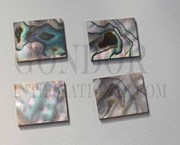 1pc Green abalone blanks 18x22x1.5mm
