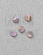 1pc Red abalone dots 2.35mm (3/32