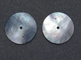 1pc Black MOP discs polished 2 holes 36x0.4mm