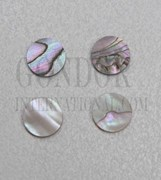 1pc Red abalone dots 5.5x1.3mm