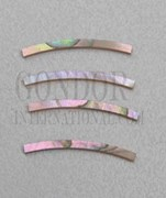 1pc Red abalone strips curved 1.6x25x1.3x125mm