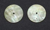 1pc Gold MOP discs polished 2 hole 36x0.4mm