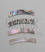 1pc Red abalone strips curved 4.32x25x1.3x75mm