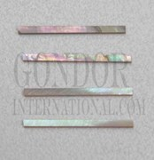 1pc Red abalone strips straight 1.5x25x1.5mm