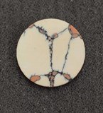 1pc Marble Bohemian CH2E6 reconstituted stone discs polished 19.5 x 1.5mm