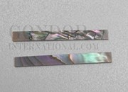 1pc Red abalone strips straight 3.17x25x1.3mm