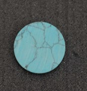 1pc Turquoise CH2A6 discs polished 19.5 x 1.5mm