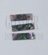 1pc Green abalone blanks heart 9.5x32x1mm