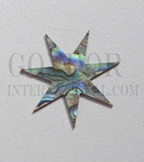 1pc Paua 7p star 30x1.5mm