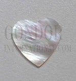1pc White MOP polished heart cabochons 26x28x2.5mm