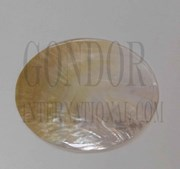 1pc Mother of Pearl polished ovals 95x125mm