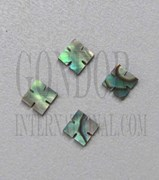 1pc Paua notched squares 4x1.5mm