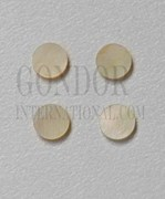 1pc Gold MOP dots 12x1.3mm