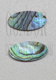 1pc Paua oval blanks 9.3x18.2x1.2mm