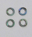 1pc Paua rings 6.35mm D x 4.05mm H x 1.5mm