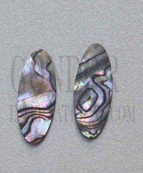 1pc Green abalone cabochons oval 15x20x2mm