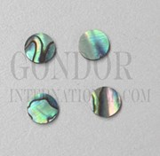 1pc Paua dots 12x1.5mm