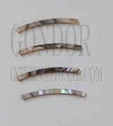 1pc Green abalone strips curved 2x25x1.3x120mm