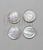 1pc White MOP finger button 15.1x2.6mm