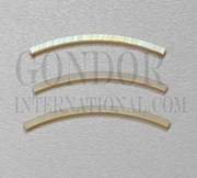 1pc Gold MOP strips curved 1.6x25x1.3x81mm