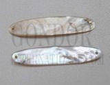 1pc White MOP fishing lures 15x67mm
