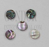 1pc Green abalone dots 13 x 1.3mm