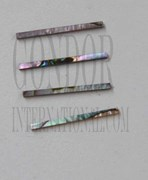 1pc Green abalone strips straight 2.5x25.4x1.3mm