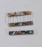 1pc Green abalone strips straight 4.76x25x1.3mm