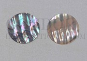 1pc Green abalone discs 20x0.5mm