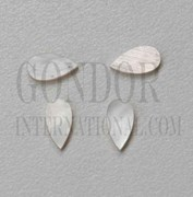 1pc White MOP inlay tear drops 5.2x15.5x1.8mm