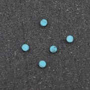 1pc Turquoise CH2A6 dots 2 x 1.3mm