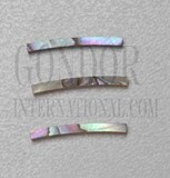 1pc Pink abalone strips curved 1.5x24x1.3x120mm