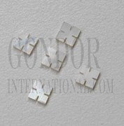 1pc White MOP notched squares 4x1.5mm