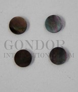 1pc Black MOP domed finger button 14x2mm