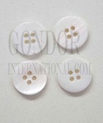 1pc Fresh Water Pearl button 4H 16Lx3mm