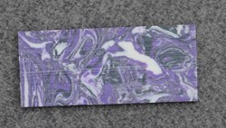 1pc Purple stone CH2I4 reconstituted stone blanks 30x70x1.5mm