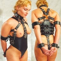 FULL BODY BDSM RESTRICTION HEAVY DUTY HARNESS