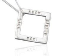 Hand-stamped square