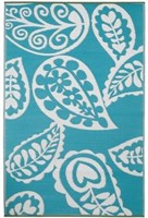 Paisley Blue - Outdoor Rug