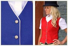 Show Vest with Contrast Trim