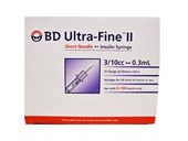BD Ultrafine II Syringe 0.3ml 31G 8mm