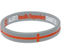 Mediband Wristband Insulin Dependent Silver