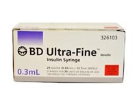 BD Ultrafine Syringe 0.3ml 29G 12.7mm