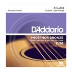 D'ADDARIO PB ACOUSTIC STRINGS 11-52