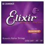 ELIXIR NANOWEB ACOUSTIC GUITAR STRINGS 10-47