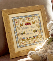 Fire Engine Birth Sampler - Historical Sampler Company