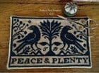 PEACE AND PLENTY SCISSOR MAT- Scattered Seeds Samplers