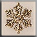 Small Snowflake Gold 12mm 12036