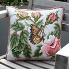 Cushion -  Rose Garden Butterfly, Beth Russell